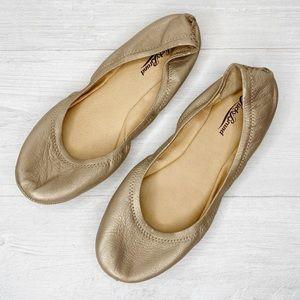 Lucky Brand | Emmie Ballet Flat in Gold Sz. 9